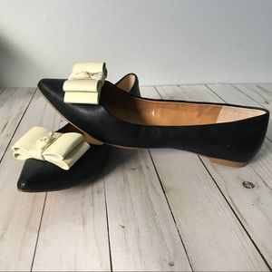 J. Crew black leather flats